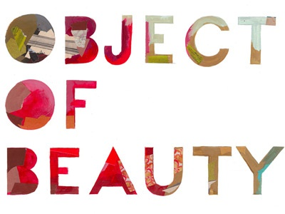 An Object of Beauty book book cover novel steve martin darren booth type typography lettering hand lettering acrylic collage design color painted