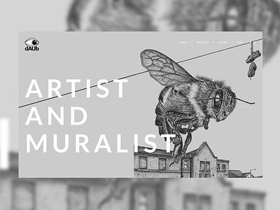 dAUb - Artist & Muralist - Website webdesign website artist