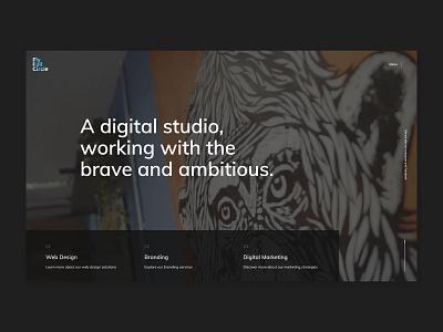 Agency Homepage - Fly Full Circle design studio agency website website design branding website