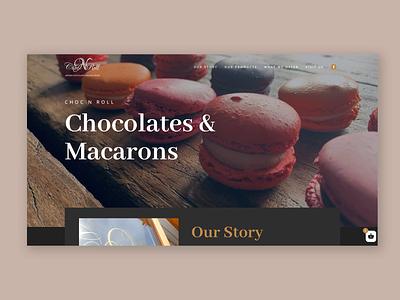 Chocolate website web design website chocolate