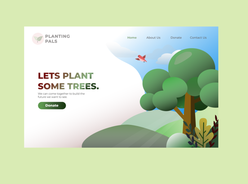 Website Landing Page homepage dailyuichallenge trees landing landingpage website nature illustration nature dailyui
