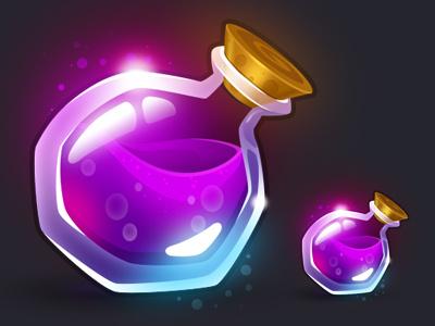Potion game piece potion glow ui game icon