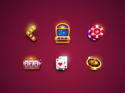 Mini Casino icons mini photoshop play caesars blackjack roulette slot ui game casino icon