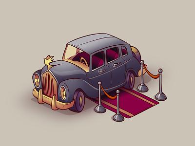 Limo Location icon fancy car limousine limo small mini set icons illustration icon