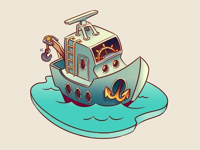Boat Location Icon caesars illustration game art art boat casino icon game