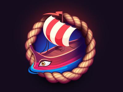 Greek ship Game Icon vector game art design ui icon logo ancient greece greece game icon game symbol icon ship