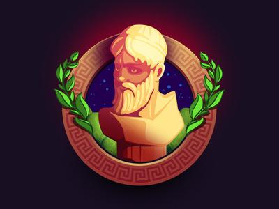 Greek statue Game Icon ancient greece greece caesars logo icon vector game art design illustration game