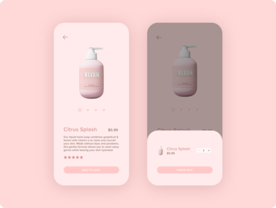 Shopping App figma minimal clean design simple clean interface iphone mobile design concept design ui ui design ui trends pink shopping app product design simple skincare