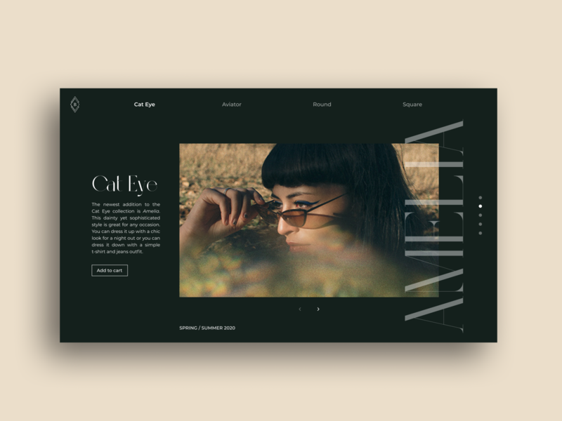 Eyewear Part 2 portfolio website design branding ui trends uidesign typography concept design clean digital design web design ui photography eyewear minimal landing page figma