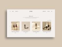 Fyne Products Page ui ui trends clean ui web design visual design uiux ui design freelance portfolio typography photography branding neutral minimalism minimal shopping ecommerce design clean