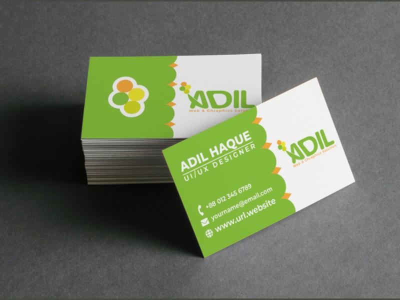 Business card creative adil business card