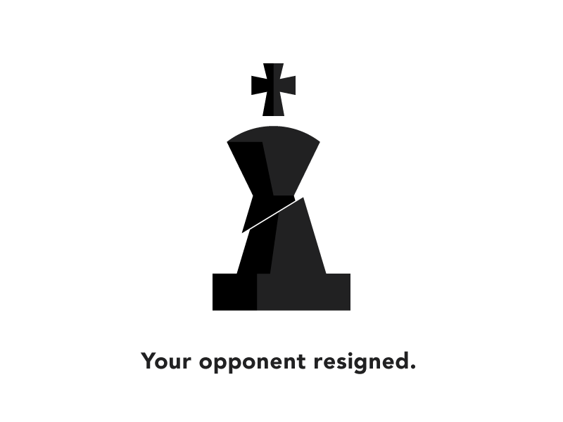 Resigned tall chess ios chess iphone king beheaded resign
