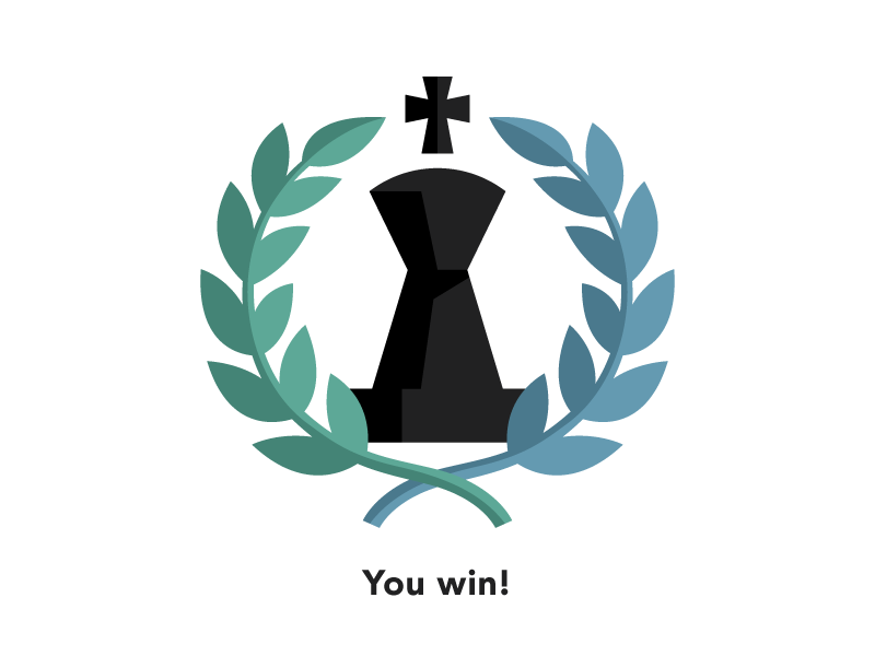 Winning. tall chess iphone ios chess app