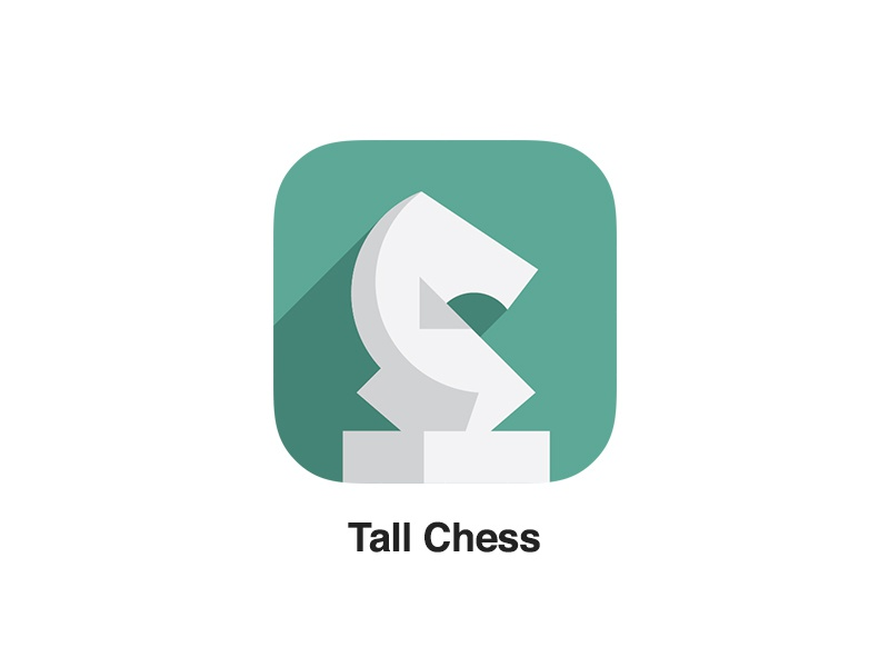 New Tall Chess Icon tall chess ios 7 chess app long shadow