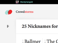 Crowdstorms — List/Block Toggle