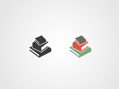 Book Stack books logo stack
