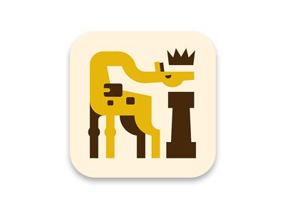 King Giraffe ios icon chess giraffe