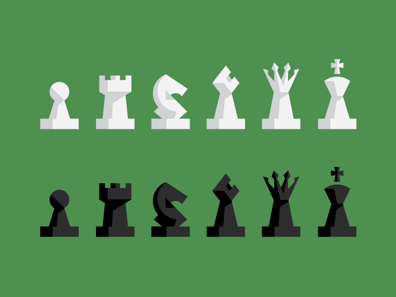 Chess Pieces chess icons pieces king queen pawn rook knight bishop