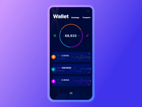 Exodus Wallet 2.0. The Navigation Interaction wallet crypto ios branding animation principle interaction app mobile ui ux