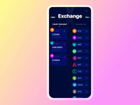Exodus Wallet 2.0. The Exchange Interaction crypto wallet ethereum bitcoin exchange slider trade marketplace crypto ios branding animation principle interaction app mobile ui ux