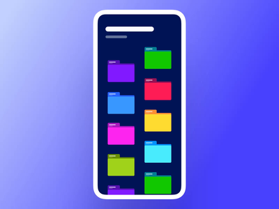 Interaction #41. Folder Manager data analysis android ios physical filters list file manager folders principle interaction app mobile ui ux