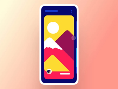 Interaction #34. The Top Toggle & Filters filters cards tiles view switch view sunset mountains physical principle interaction app mobile ui ux