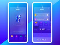 Exodus Wallet 3.0. The Alerts Pages slider purple notifications bitcoin wallet alerts bitcoins ethereum interaction app mobile ui ux
