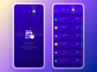 Exodus Wallet 3.0. The Transactions Interaction app scroll state chart ethereum bitcoin crypto wallet crypto empty state transactions animation interaction app mobile ui ux