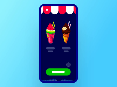 Interaction #40. The Ice Cream Truck credit card checkout ice cream truck icecream principle animation interaction app mobile ui ux