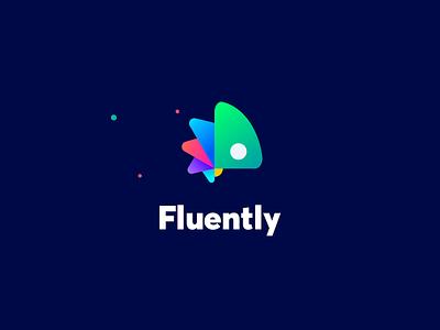 Fluently. Logo Reveal logo branding chameleon language exchange language learning app