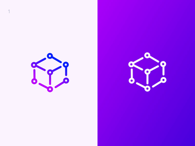 Medialab. Logo Reveal comparison process cube brand identity animation branding logo
