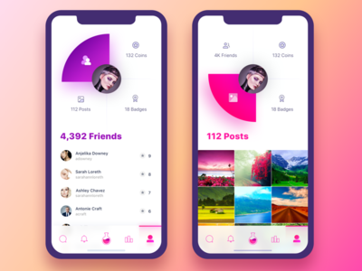 Fame Lab Profile infographic stats iphone x comments gamification instagram famous fame followers profile likes