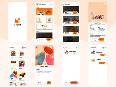 HelloCat design design app vector branding illustration uiux ui ux app adoption adopt
