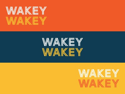 Wakey Wakey color explorations