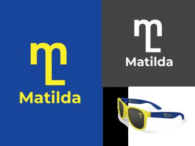 matilda Logo brandidentity brand design designer eye catching sunglasses eyeglass eyeglasses typography mockup branding logo logodesign design logo