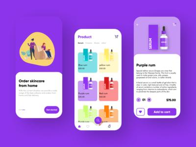 skincare store app uxinspiration uiinspiration inspiration minimal mockup icon illustration app ux ui typography design