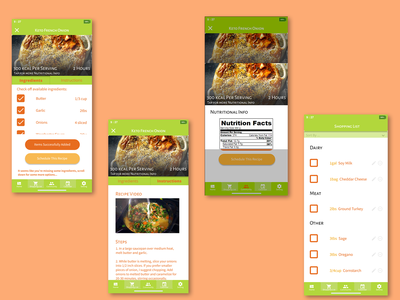 Blossom - Recipe App web design cooking app food app product design app ios design interaction design interaction ui mobile app design ux