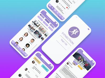 Fitnection - Fitness Community App web design app ios design product design community app fitness app ux ui mobile app design interaction design