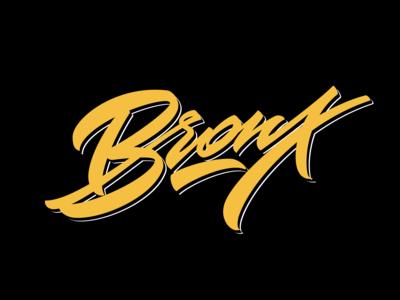 BRONX custom lettering