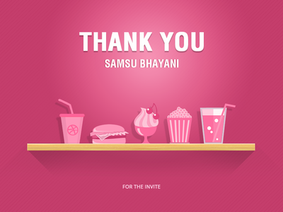 Thank you  dribbble invite thank you design photoshop uiux
