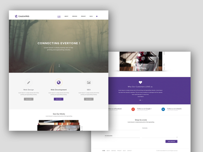 Creative Web Theme photoshop design template responsive userinterface