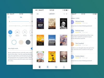 Book Read Application ux ui review reading rating mobile learn design creative chat book application
