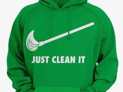 Merch design | Just clean it