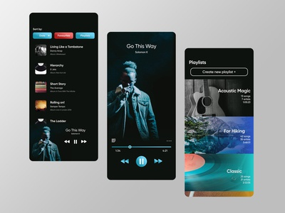 Music player app | UI design