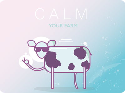 Calm your farm vector design illustration