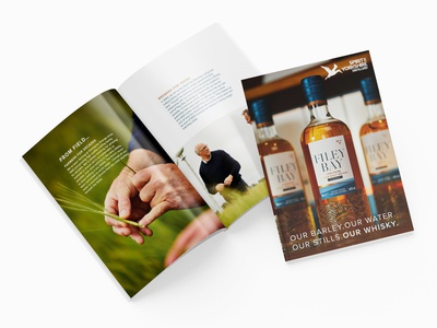 Brochure For Whisky Distillery whisky alcohol spirits yorkshire print book magazine editorial brochure typography design