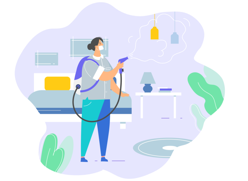 Hotel Sanitation wash your hands sanitation female character housekeeper hotel cleaning character blog illustration flat design cartoon character design adobe illustrator vector illustration