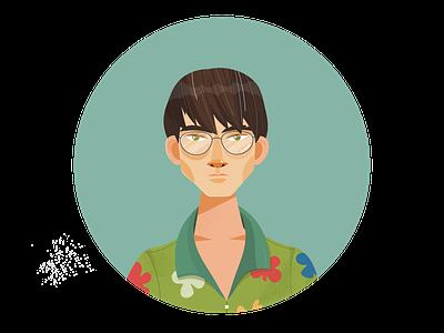 It's Not That Bad musician indie rock kane strang portrait character design cartoon character adobe illustrator vector illustration