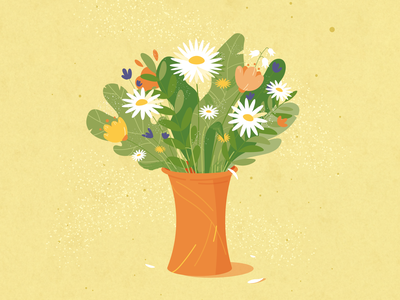 Flowers flowers adobe illustrator vector illustration