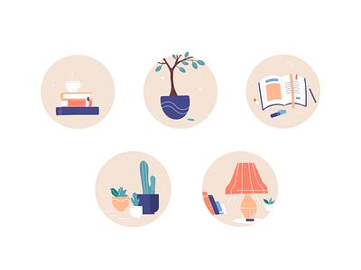 Pastel Icon Set cozy home pastel icon design icon set icon illustration adobe illustrator vector